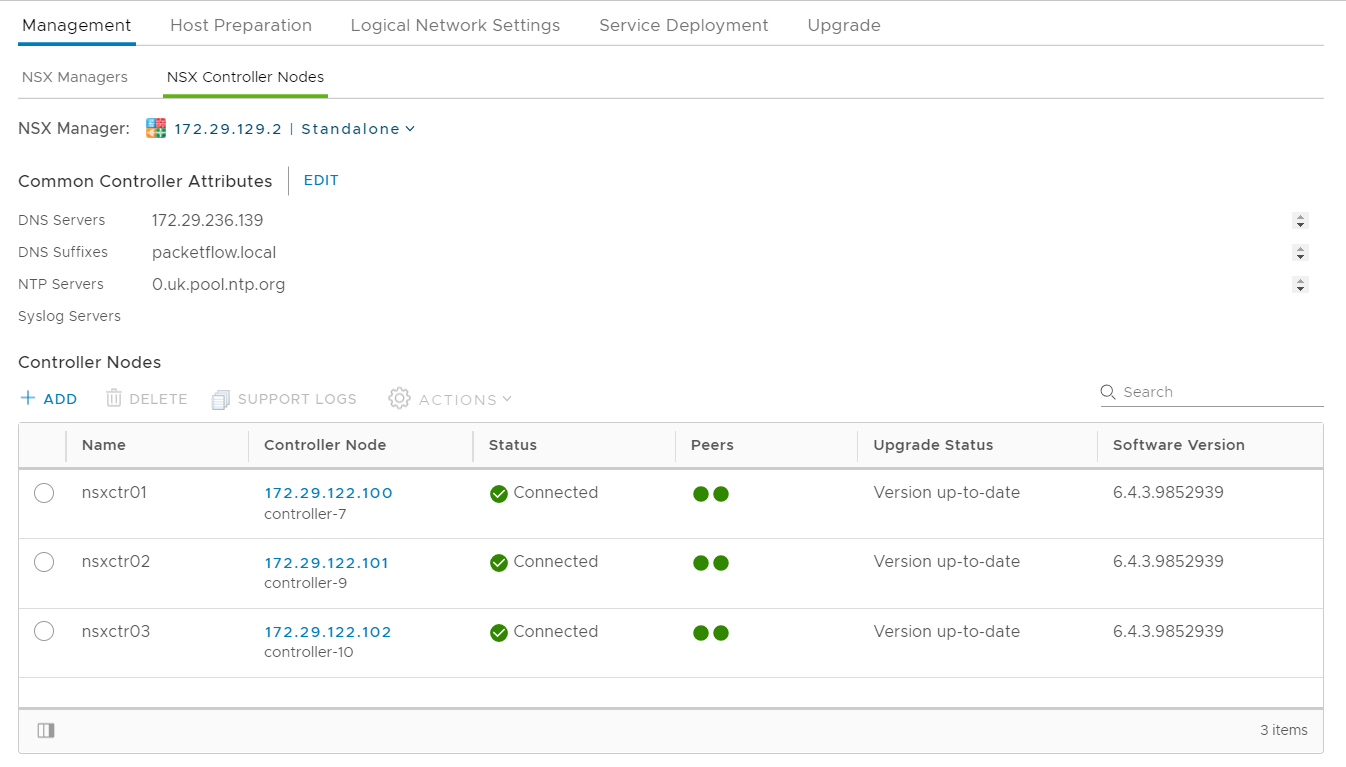 How to Build a Virtualized NSX-V SDN Lab (Part 3 - Controller Cluster)